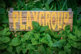Rustic Sign for School Playgroup Reproduction photographique par Mr Doomits