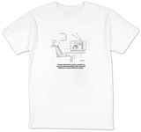 """Analysts blamed the market's volatility on computer-directed trading whil"" - Cartoon T-shirts by Robert Mankoff"