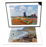 Claude Monet: Etretat, 1883 & Monet: Tulip Fields, 1886 Set Art by Claude Monet