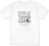 """O.K., folks, let's move along. I'm sure you've all seen someone qualify f"" - New Yorker Cartoon T-shirts by Tom Cheney"