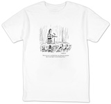 """This next one is a sad little blues tune about love and pain that I wrote"" - New Yorker Cartoon T-Shirt by David Sipress"