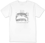 """""""Guess who's wearing her anniversary funjams, Freddy"""" - New Yorker Cartoon T-shirts by Michael Crawford"""