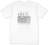 """That's my storage shed. It's where I keep all the densely worded, multi-p"" - New Yorker Cartoon T-Shirt by Jack Ziegler"
