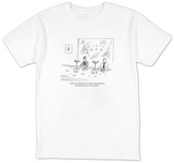 """I don't care what they do, as long as they don't mess with the thirty-two"" - New Yorker Cartoon T-shirts by Mick Stevens"