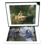 The Annunciation, 1914 & The Lady of Shalott, 1888 Set Prints by John William Waterhouse