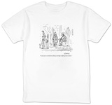 """I want you to switch from alchemy and shape-shifting to job creation.""  - New Yorker Cartoon T-Shirt by David Sipress"
