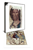 Russian Icons: The Trinity & Russian Icons: The Saviour Set Posters by Andrei Rublev