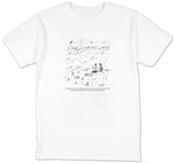 """The majestic way they climb higher and higher until they seem to kiss the"" - New Yorker Cartoon Shirts by David Sipress"