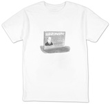 Billboard advertises the services of lawyer who will sue children, nephews - New Yorker Cartoon T-Shirt by Danny Shanahan