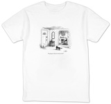 """I'm going out.  Do you need any voles"" - New Yorker Cartoon T-shirts by Sam Gross"