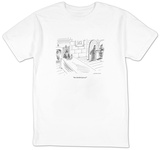 """One blackbird pizza"" - New Yorker Cartoon T-shirts by Mick Stevens"