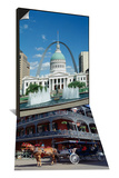 Horse and Carriage in French Quarter, New Orleans & Fountains and Buildings, St. Louis Set Print by Adina Tovy