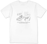 """Do you think it would help if all the voices in my head came together and"" - New Yorker Cartoon T-shirts by Jack Ziegler"