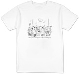 """I have just one more questionwill it make me happy"" - New Yorker Cartoon Shirts by David Sipress"