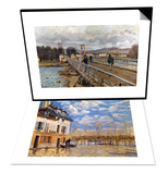 Sisley: Flood, 1876 & Sisley: Foot-Bridge, 1872 Set Print by Alfred Sisley