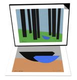 Lovebrid Couple Portrait & Peace/Bluebird in Black Forest Set Prints by Jerry Kott