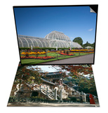 Exterior of Pulguksa Temple, South Korea & Palm House Parterre with Floral Display, England Set Art by Adina Tovy