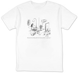 """Ask your doctor if taking a pill to solve all your problems is right for ?"" - New Yorker Cartoon T-shirts by David Sipress"