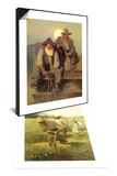 The Scythers, 1908 & The Pay Stage, 1909 Set Art by Newell Convers Wyeth
