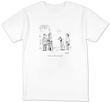 """They're cute.  What are they for?"" - New Yorker Cartoon T-shirts by David Sipress"