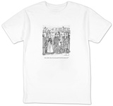 """""""Jesus, Isabel, why can't you just grab the bar like everyone else"""" - New Yorker Cartoon T-Shirt by Michael Crawford"""