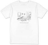 """I don't think this is doing me any good."" - New Yorker Cartoon Shirts by David Sipress"