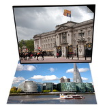 View of the Shard, City Hall and More London & Household Cavalry at Buckingham Palace, London Set Prints by Adina Tovy