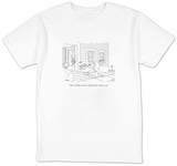 """O.K., kid. Busy man here. Quality time. Here we go."" - New Yorker Cartoon T-Shirt by Jack Ziegler"