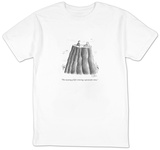 """The meaning of life is having a spectacular view."" - New Yorker Cartoon Shirts by Sam Gross"