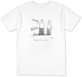 """The suggestions are supposed to go in the box."" - New Yorker Cartoon T-Shirt by Sam Gross"