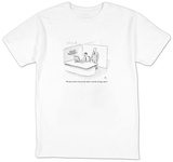 """""""We don't need to reinvent the wheel?just the earnings report."""" - New Yorker Cartoon T-shirts by Paul Noth"""
