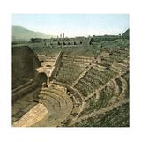 Pompeii (Italy), Comic Theatre Photographic Print by Levy et Fils, Leon