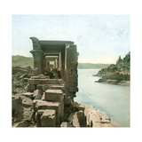 Island of Philae (Egypt), Temple of Isis, Interior View of the Colonnade Photographic Print by Levy et Fils, Leon
