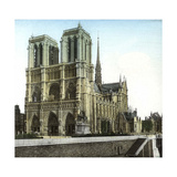 Notre Dame De Paris Cathedral Seen from the Embankments, Paris Photographic Print by Levy et Fils, Leon