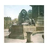London (England), Trafalgar Square, around 1900 Photographic Print by Levy et Fils, Leon