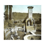 Pompeii (Italy), the House of Marcus Lucrecius, Circa 1890-1895 Photographic Print by Levy et Fils, Leon