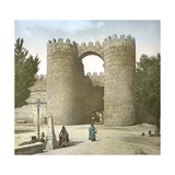 Avila (Spain), the Old Fortified Walls, Saint Vincent's Gate Photographic Print by Levy et Fils, Leon