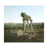 Agrigente (Sicily, Italy), the Temple of Dioscures Castor and Pollux (Vth Century B,C,), Circa 1860 Photographic Print by Levy et Fils, Leon