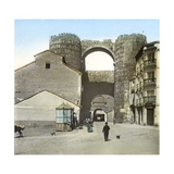 Avila (Spain), Old Fortified Walls, Gate of the Alcazar Photographic Print by Levy et Fils, Leon