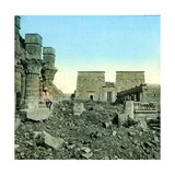 Island of Philae (Egypt), the Great Temple of Isis Photographic Print by Levy et Fils, Leon