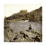Toledo (Spain), View of the Tagus River and the Castle of San Servando Photographic Print by Levy et Fils, Leon