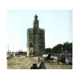 Seville (Spain), the Tower of Gold Photographic Print by Levy et Fils, Leon