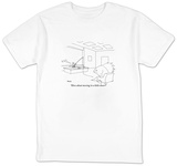 """How about moving in a little closer"" - New Yorker Cartoon T-shirts by Jack Ziegler"