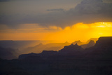 Sunset at Grand Canyon Seen from Desert View Point, South Rim Photographic Print by Jorg Hackemann