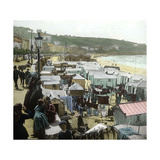 San Sebastian (Spain), the Paseo (Walk) of La Concha and the Beach, Circa 1885-1890 Photographic Print by Levy et Fils, Leon