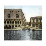 Venice (Italy), Ponte Della Paglia and Sighs, Circa 1895 Photographic Print by Levy et Fils, Leon