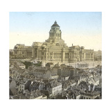 Brussels (Belgium), Panorama of the Courthouse Photographic Print by Levy et Fils, Leon