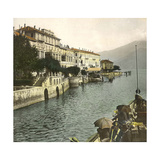 Cadenabbia (Italy), the Village Seen from Lake Como, Circa 1890 Photographic Print by Levy et Fils, Leon