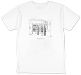 """Decaf's out of toner."" - New Yorker Cartoon T-shirts by Danny Shanahan"