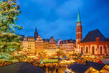 Traditional Christmas Market in Frankfurt, Germany Photographic Print by  sborisov